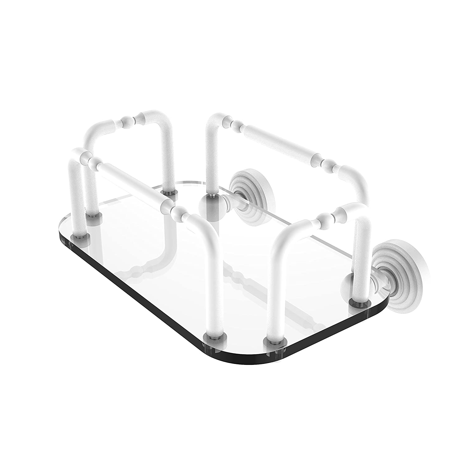 Allied Brass GT-2-WP-WHM Waverly Place Wall Mounted Guest Towel Holder Matte White