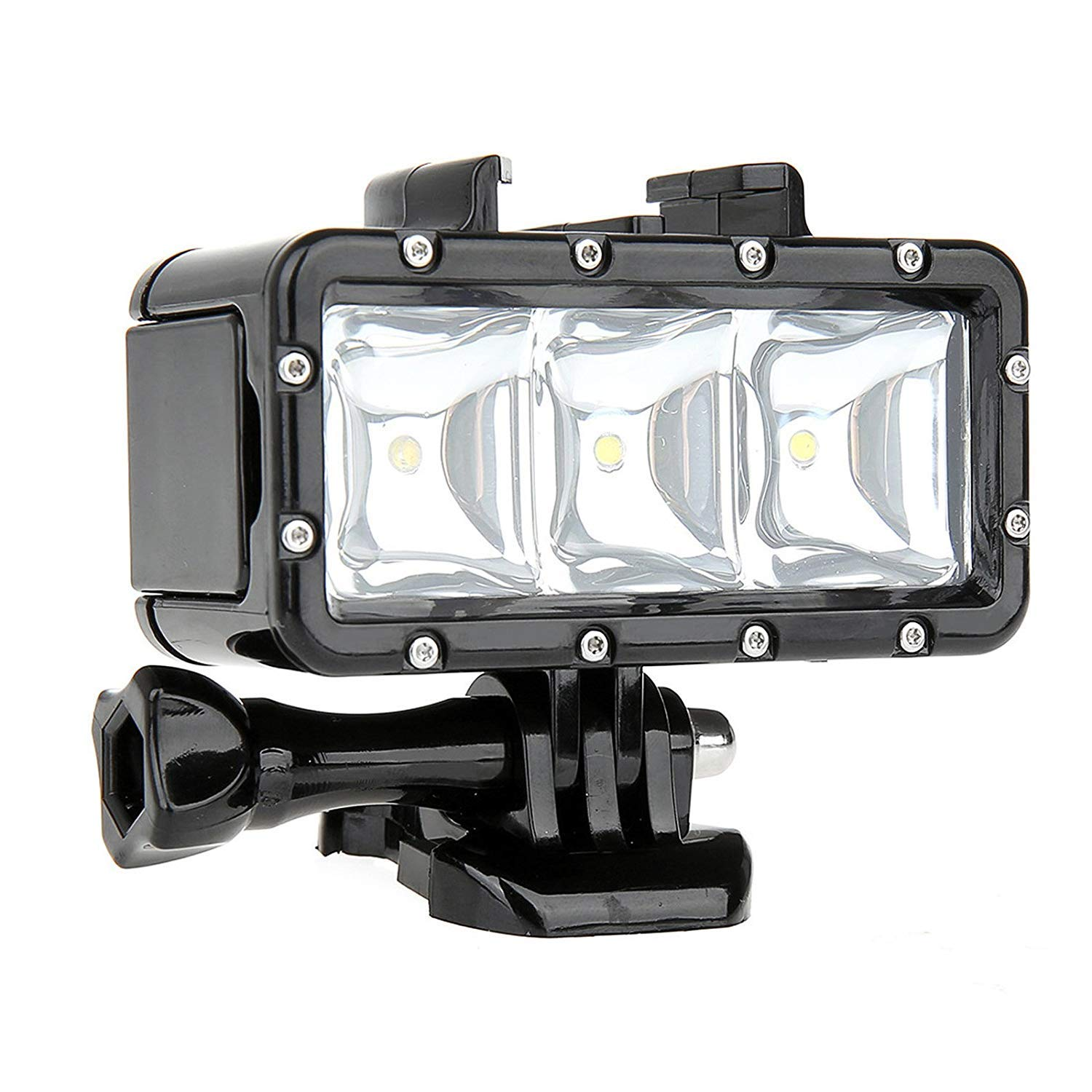 SHOOT Waterproof 30m Diving Light High Power Dimmable LED Underwater Fill Light for GoPro Hero 7//6//5//5S//4//4S//3+,Campark AKASO DBPOWER Crosstour Camera with 1200mAh Built-in Rechargeable Battery