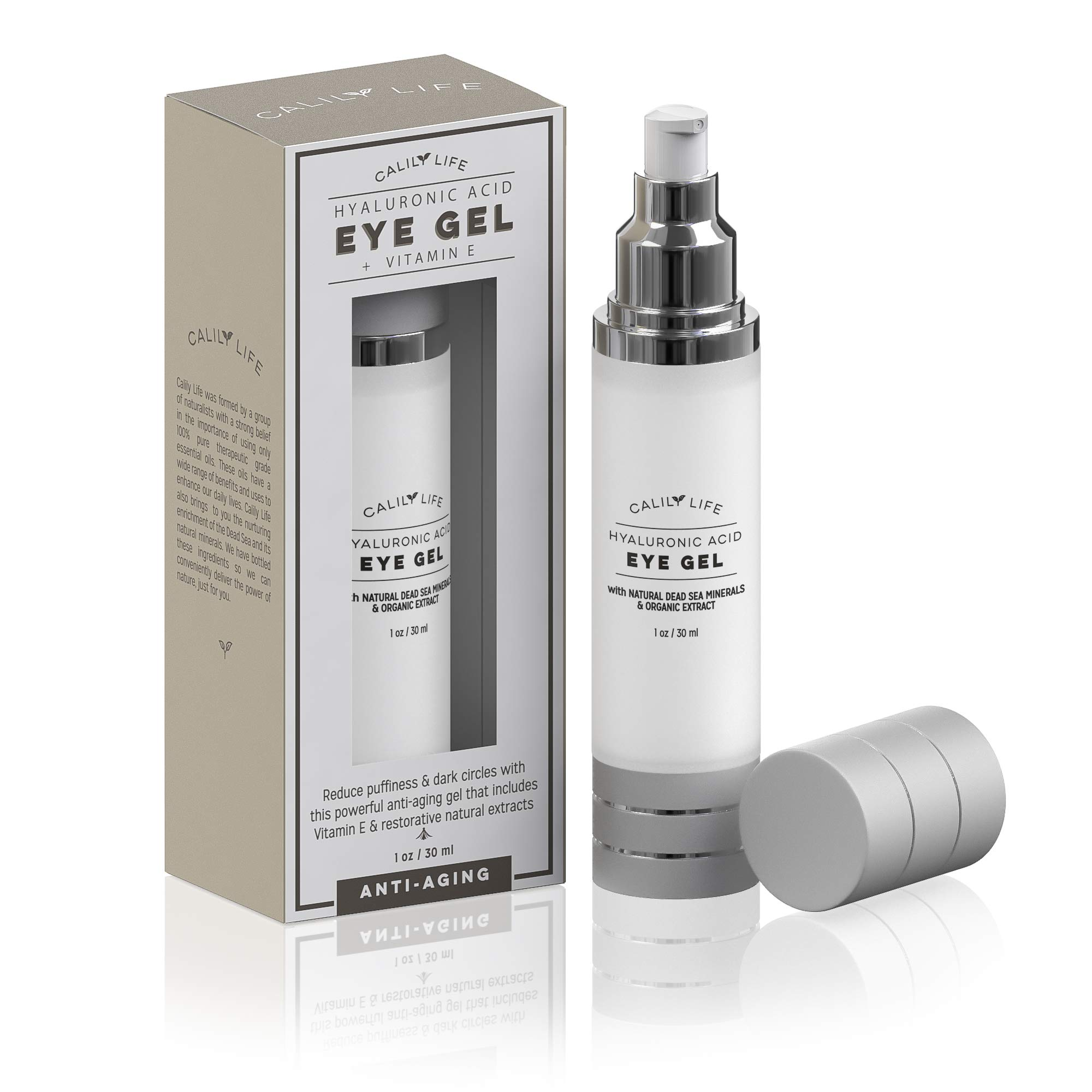 Calily Life Premium Eye Gel for Treatment of Puffiness, Bags, Dark Circles, Fine Lines and Wrinkles Anti-Aging Formula - 1 oz.