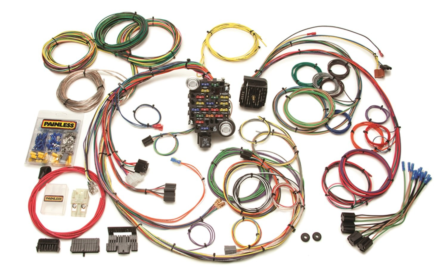 71RvMxx3qDL._SL1500_ amazon com painless 20102 custom wiring harness automotive car wiring harness at suagrazia.org