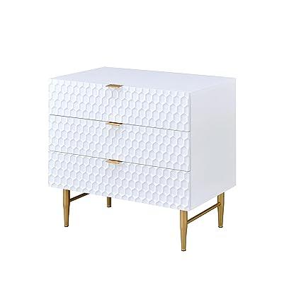 428977dd1b15 Amazon.com  Acme Furniture 97470 Maisey White and Gold Dresser