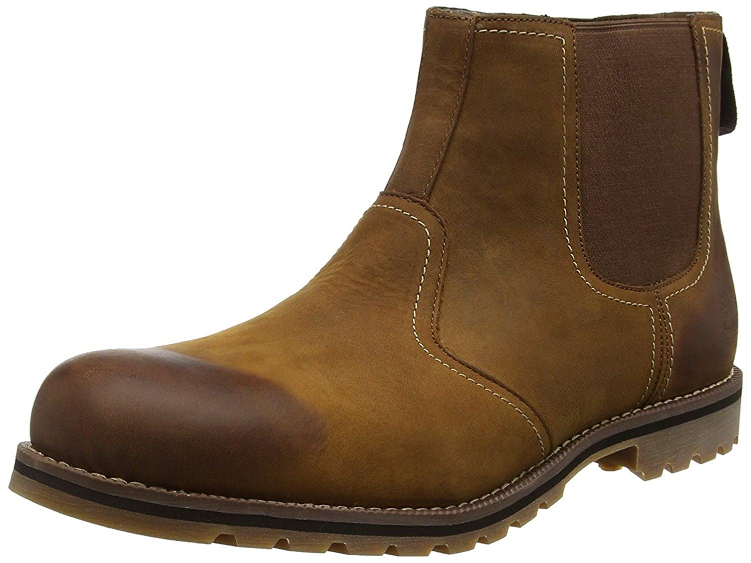 #Timberland Larchmont Brown Mens Leather Chelsea Boots