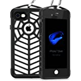 FITFORT iPhone 8 Case Waterproof,IP 68 Certified Shock Resistant Heavy Duty Protection Full Body with Built-in Screen Protector Spider Series Cover for iPhone 7-Black