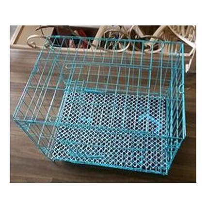Jaula de perro jaula metálica Animal Cage diseño de jaula plegado diferentes tamaños, color azul