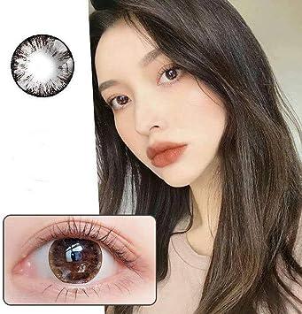 Color Contact Lens, Lentillas de color natural sin graduación BIG EYE GIRL CHOCOLATE (2 lentillas por caja): Amazon.es: Salud y cuidado personal