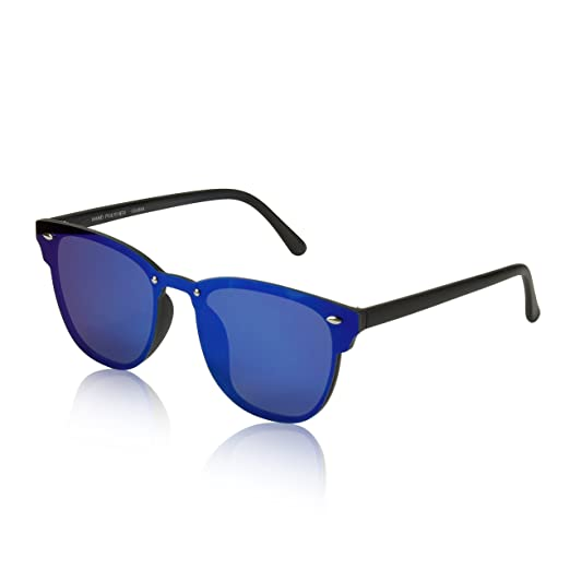 7fbb24272c Revo Reflective Mirrored Sunglasses For Teens Girls Boy Guy Guys Youth Cute  Blue