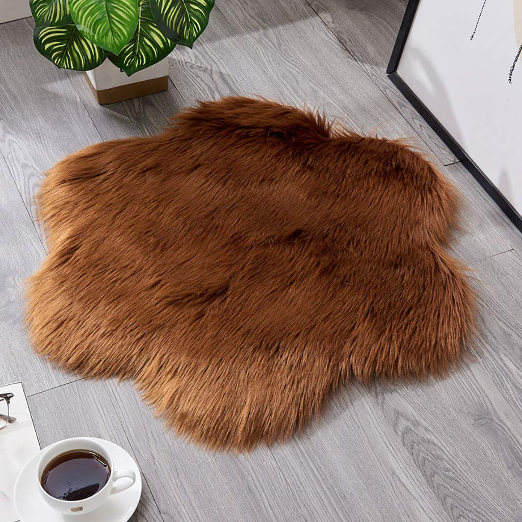 Lutos Non Slip Warm Shaggy Rug,Soft Furry Faux Fur,Plush Sofa Cover Seat Pad Shaggy Rug 23.62 x 23.62 Luxury Luxury Faux Fur Area Rugs
