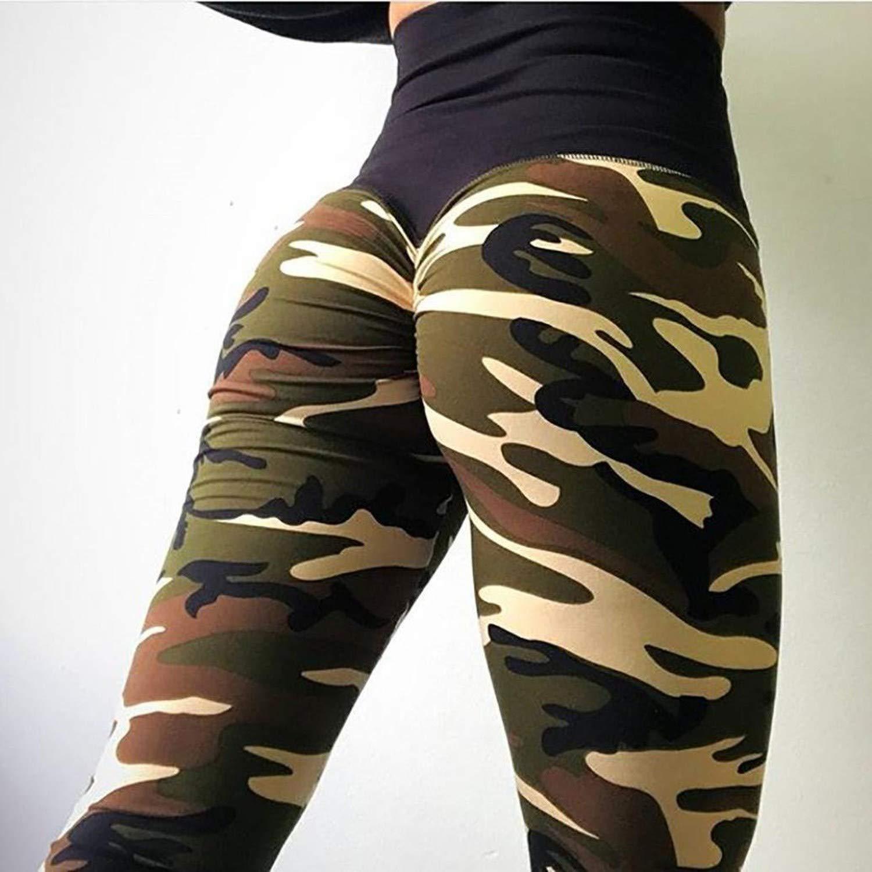 8930cb0fcf9cb Amazon.com: Fanteecy Women Sexy Ruched High Waist Butt Lift Camouflage Yoga  Leggings Workout Sport Pants Hip Push up Tights,X-Large,Purple: Clothing