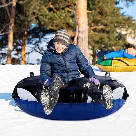 trineo de nieve resistente tubo de nieve con asas trineo inflable redondo de 47 pulgadas para ni/ños y adultos TOYANDONA Tubo de nieve