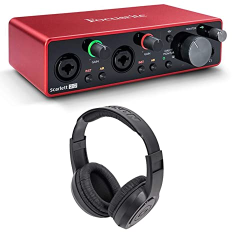 Amazon.com: Focusrite SCARLETT 2I2 3rd Gen 192KHz USB Audio ...