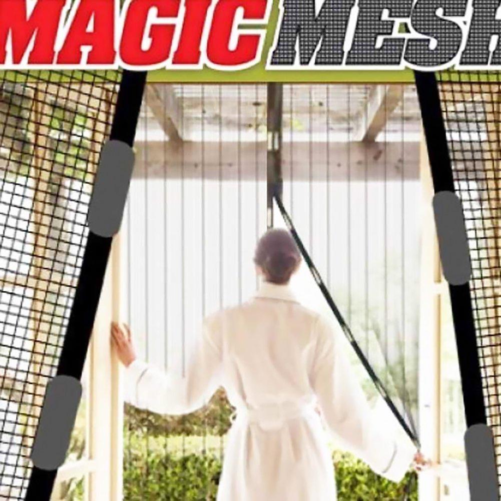 DDG EDMMS Porta zanzariera Magnetica Porta Finestra di Chiusura Magnete della zanzara Anti-zanzara Tenda Anti Mosca zanzariera Insetto Tenda Parte Nero X 1