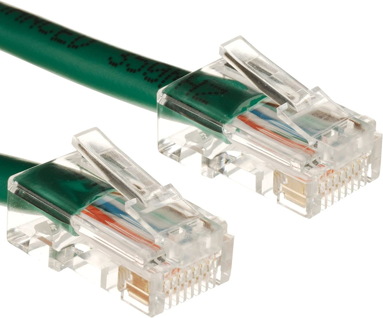 300Ft Cat5e Plenum Ethernet Cable 350 MHz Green