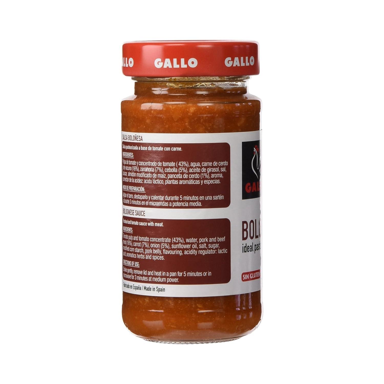 Gallo Salsa Boloñesa Tarro - Salsa pasteurizada a base de tomate con carne - 260 g: Amazon.es: Alimentación y bebidas