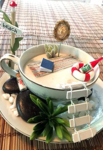 DIY Teacup BEACH FAIRY GARDEN Kit