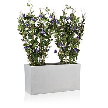 maceta jardinera de fibra de vidrio visio u color terrazo u maceta grande resistente