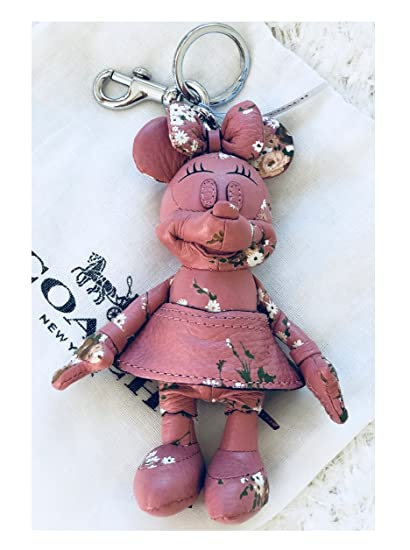 Amazon.com   Coach Disney Minnie Mouse Pink Leather Doll Keychain ... 5b01335f0