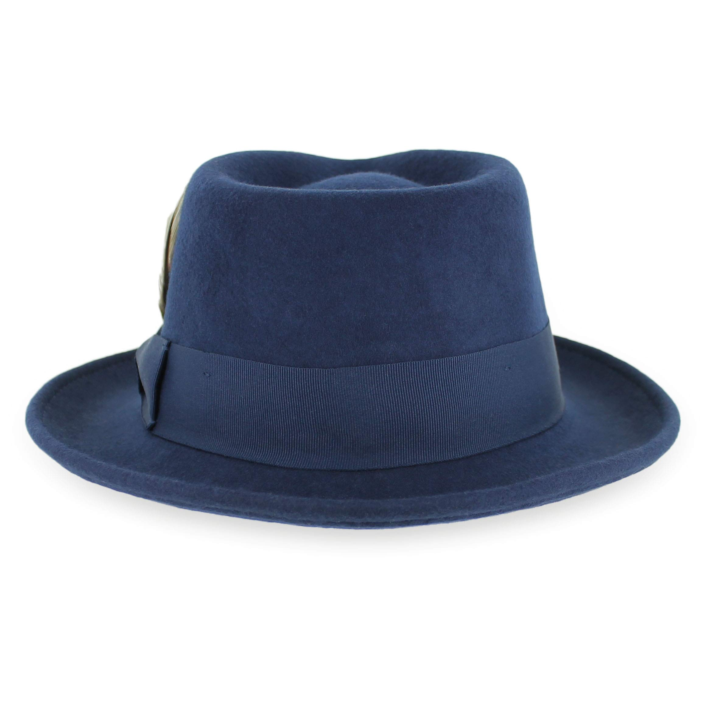 d98e8da88b5 Belfry Gangster 100% Wool Stain-Resistant Crushable Fedora in 5 Sizes and 2  Colors (XXL, Navy) - belfry-gangster_navy_xx-large < Fedoras < Clothing, ...