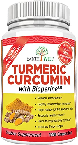 EarthWell Turmeric Curcumin Extract Anti-inflammatory Supplement