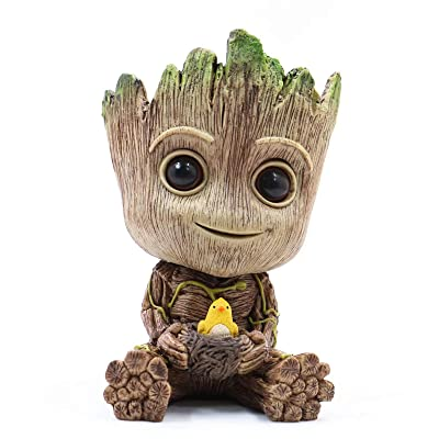 Groot Planter Pot Succulents Flowerpot Baby Groot Bird Nest Shaped Guardians of The Galaxy-Action Figure for Plants & Pens Holder, I AM Groot - Perfect Gift for Friends Kids Family : Garden & Outdoor