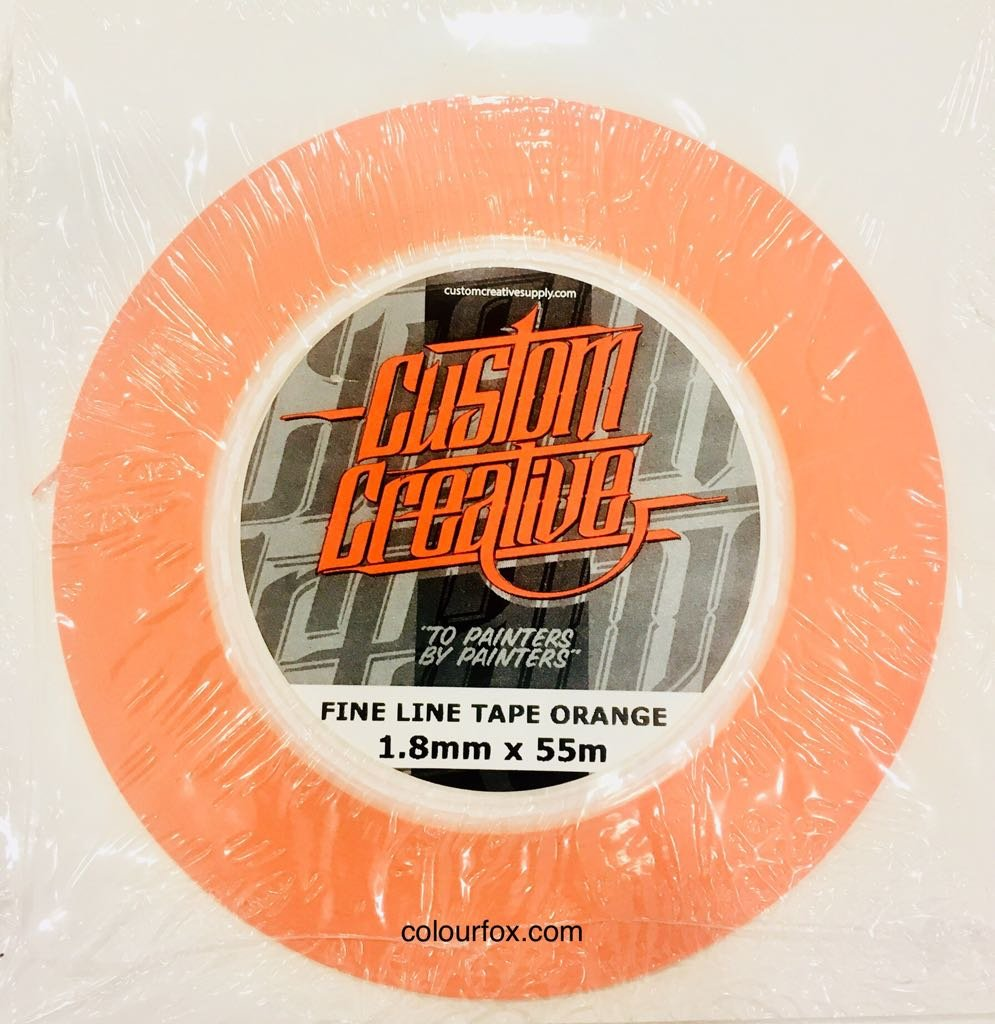 Cinta Vinilo Naranja perfilados Mixtos Aerografia Custom (1, 8mm) Custom Creative