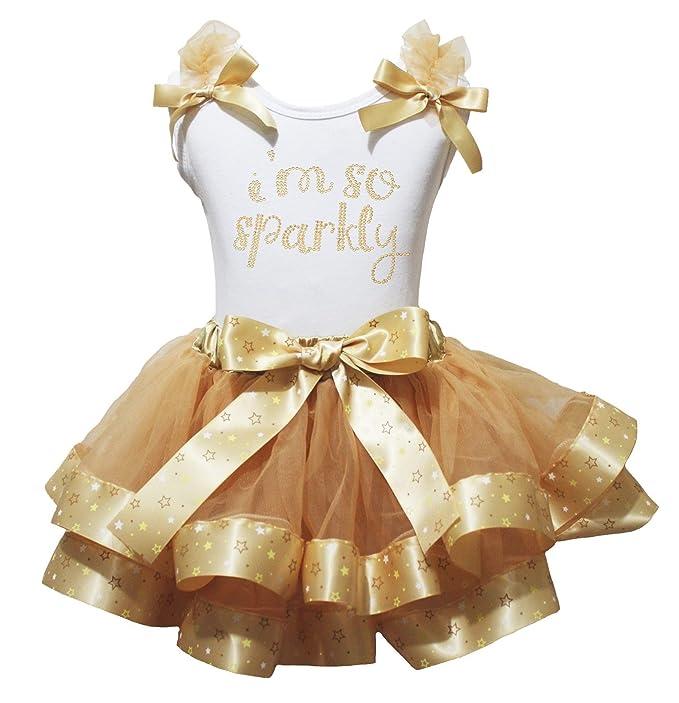 I m So para vestidos de fiesta diseño de color blanco parte superior estrellas dorado