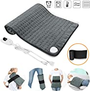 SARCCH Heating Pad, Electric Heating Pad for Moist & Dry Heat, 6 Electric Temperature Options, 4 Temperature Settings-Auto Sh