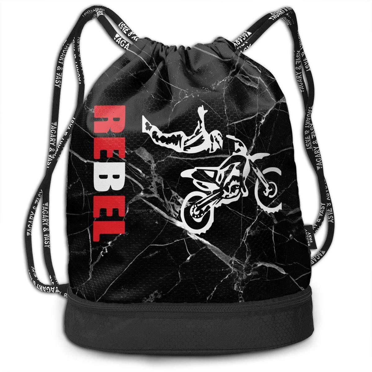 Drawstring Bag High Flying Rebel Motocross Men And Women Yoga Dance Travel Shoulder Bags