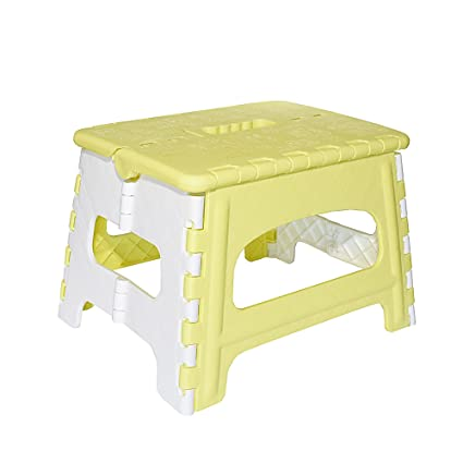Swell Green Direct Folding Step Stool For Kids And Adult For Bedside And Kitchen And Bathroom Use Holds Up To 300 Lbs Yellow Ibusinesslaw Wood Chair Design Ideas Ibusinesslaworg