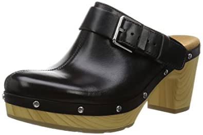 3c6b2ea430bc Clarks Women s Ledella York Clogs Black Black Black Size  3  Amazon ...