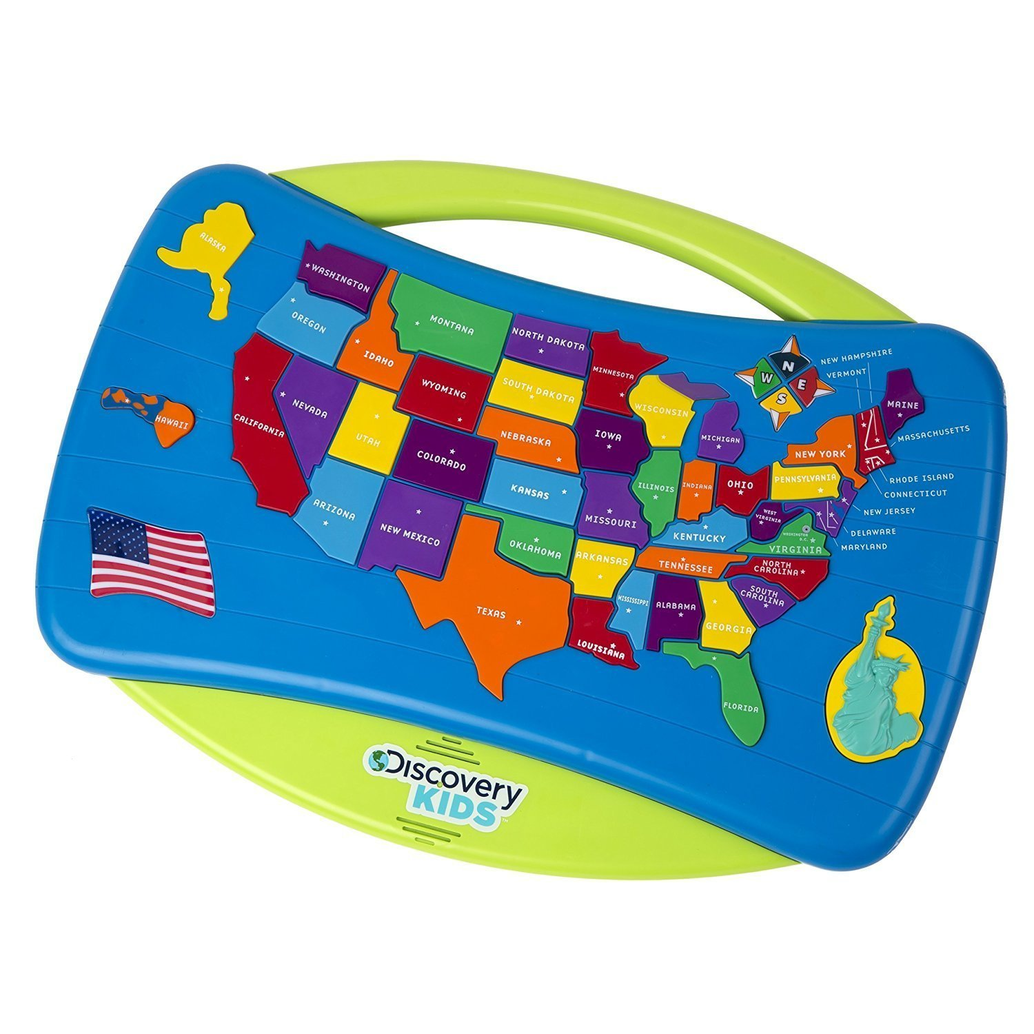Wood Puzzle USA Map Geography Autism And Kindergarten United - Interactive us map puzzle