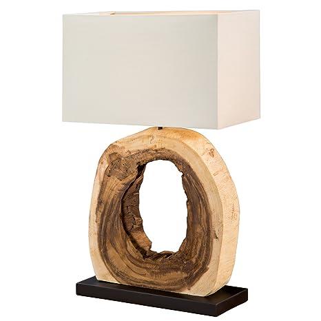 Diseño Lámpara de mesa Cycle de madera de teca E27 con ...