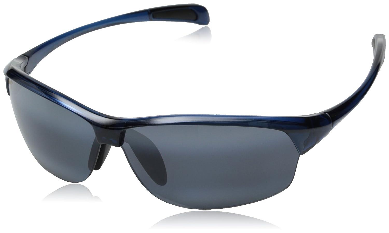 Maui Jim Designer Mens Sunglasses polarizado - River Jetty - 43003 - Blue Wraps Frame with Neutral Grey polarizado Lens - Free Shipping, Free Returns, ...