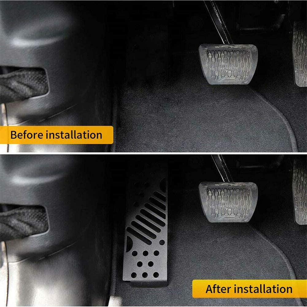 Outbit Dead Pedal f/ür die Linke Fu/ßst/ütze Fu/ßst/ütze Pegs Panel Kompatibel mit Jeep Wrangler JL 18-19