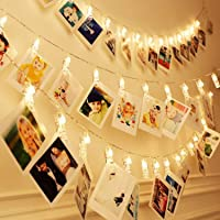 Amazon Price History for:40 LEDs 20 Photo Clips String Fairy lights Battery Powered Decoration for Living Room Bedroom Indoor Christmas Party…