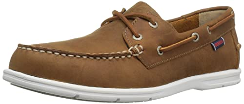 Mens Liteside Two Eye Boat Shoe, Brown Oiled Waxy Leather, 8.5 M US Sebago
