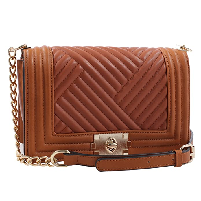 Victoria Chain Crossbody Handbag (Brown)  Handbags  Amazon.com a331347aa4
