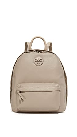 91e24a7cbf06 Image Unavailable. Image not available for. Color  Tory Burch Leather  Backpack in French Grey ...