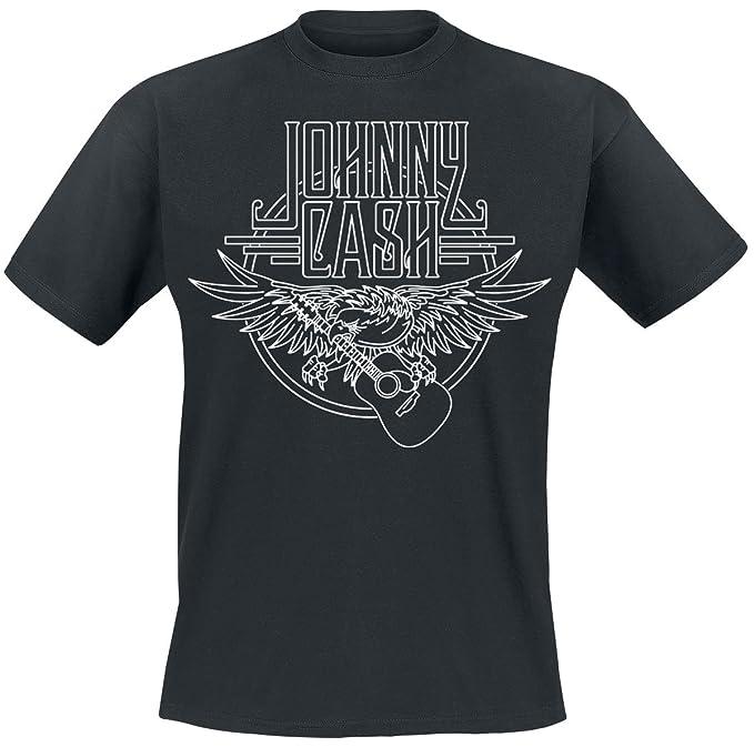 Johnny Cash Eagle Camiseta Negro W4IFiSkf