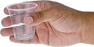 Dealmed Disposable Clear Plastic Cups, 3 oz, 100 count