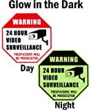 "WISLIFE Video Surveillance Sign - Security Surveillance Signs, No Trespassing Signs 12"" X 12"""