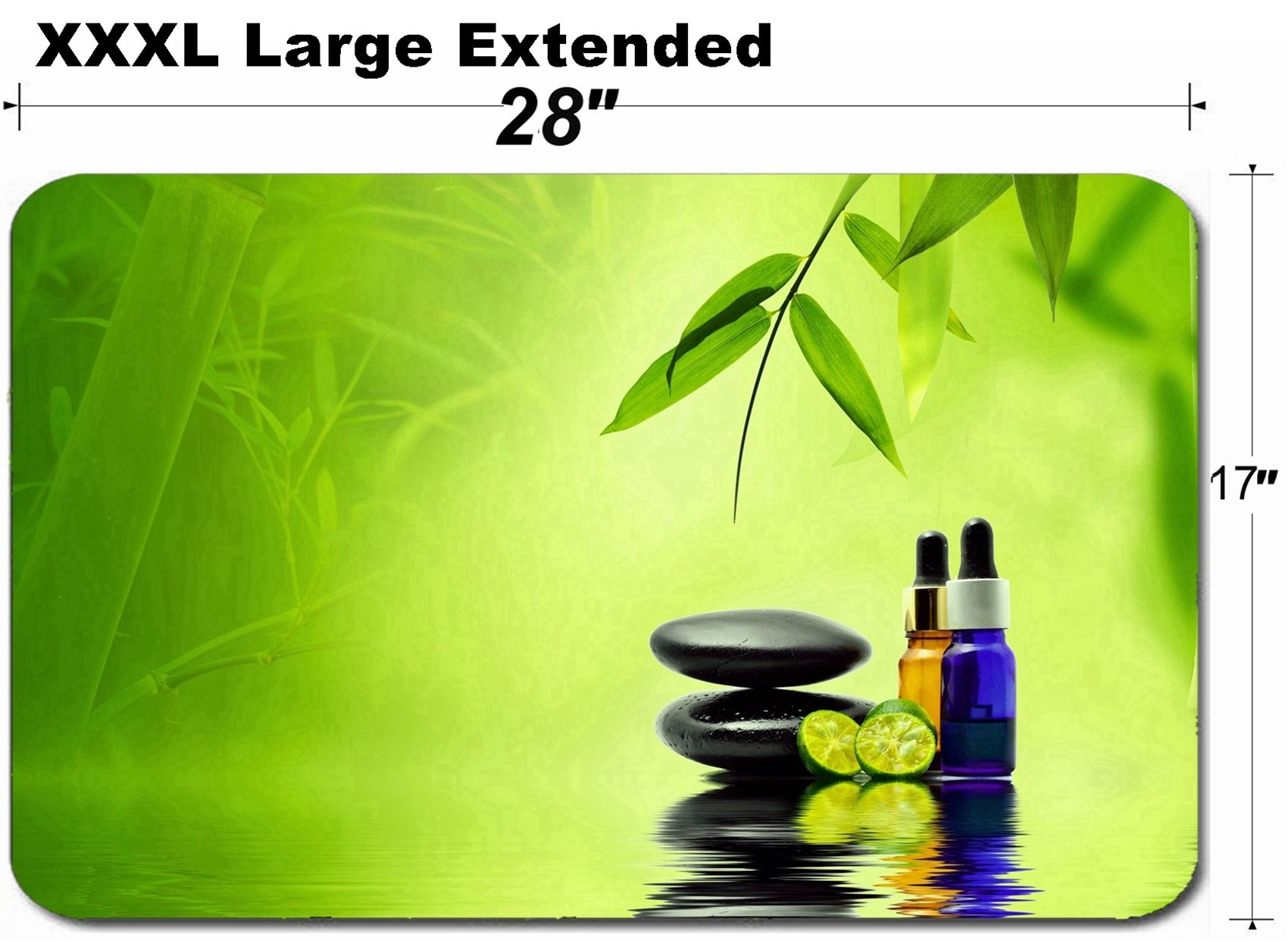MSD Large Table Mat Non-Slip Natural Rubber Desk Pads Image 20152525 Essence Oil Zen Stone and calamansi in Spa Concept
