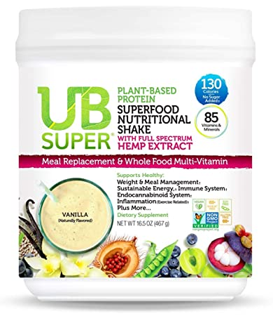 342e320801c Our Newest Meal Replacement - UB Super - Full Spectrum Hemp Extract -  Protein Superfood Nutritional