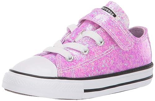 Star Glitter Velcro Low Top Sneaker