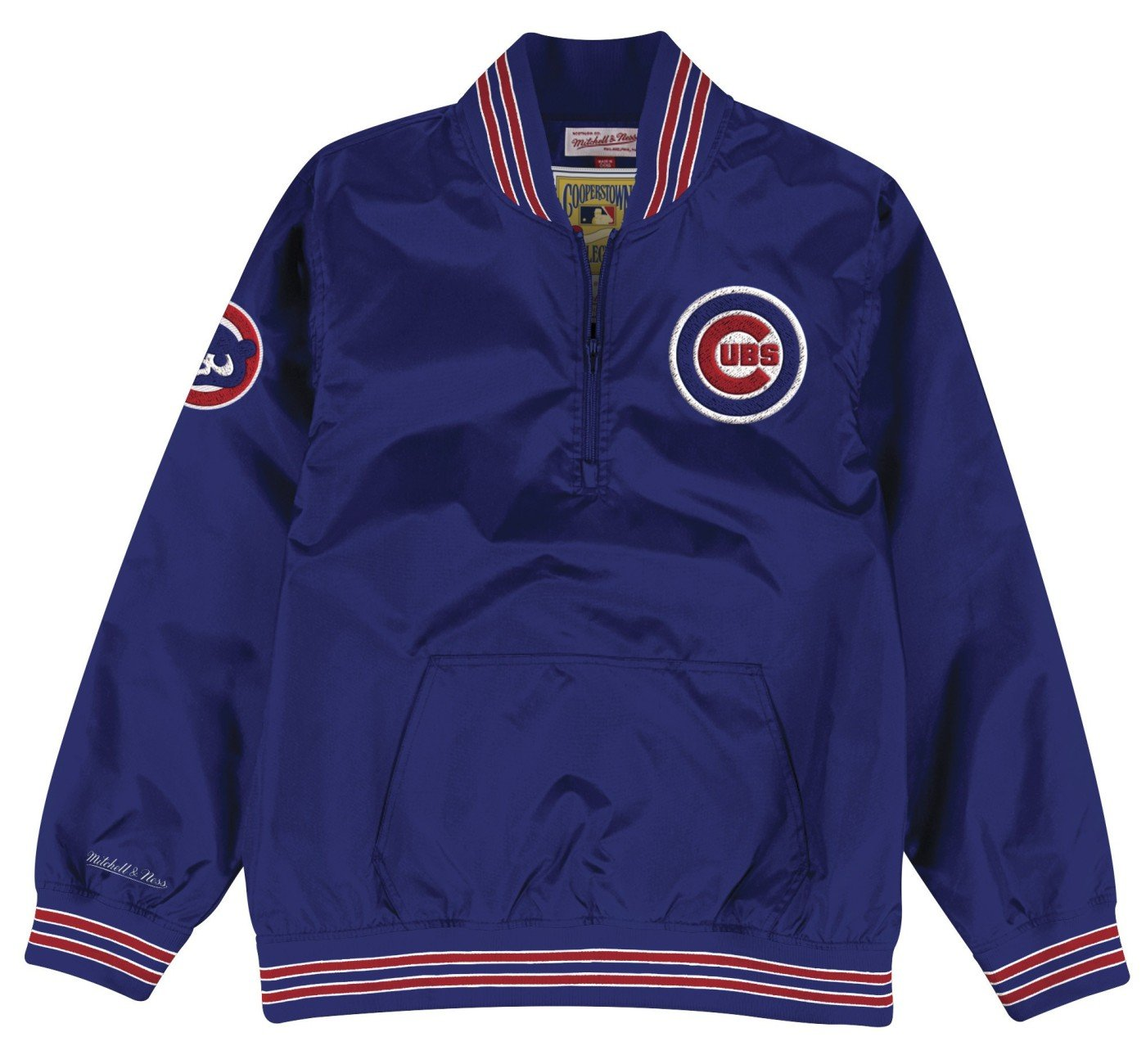 37c66d245e6 Amazon.com   Mitchell   Ness Chicago Cubs MLB Men s Slider 1 4 Zip Pullover  Jacket   Sports   Outdoors