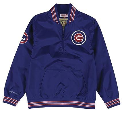 1f6ce672a7a Amazon.com   Mitchell   Ness Chicago Cubs MLB Men s Slider 1 4 Zip ...