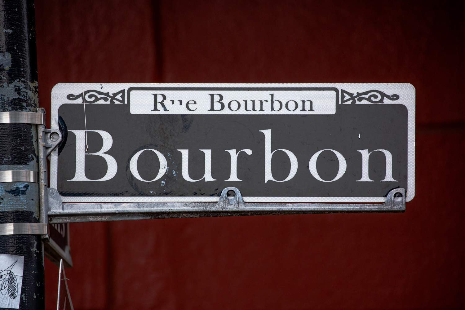 Picture of Bourbon Street Sign in French Quarter Louisiana Mardi Gras Decor 5x7 to 40x60 New Orleans Photography Art Print