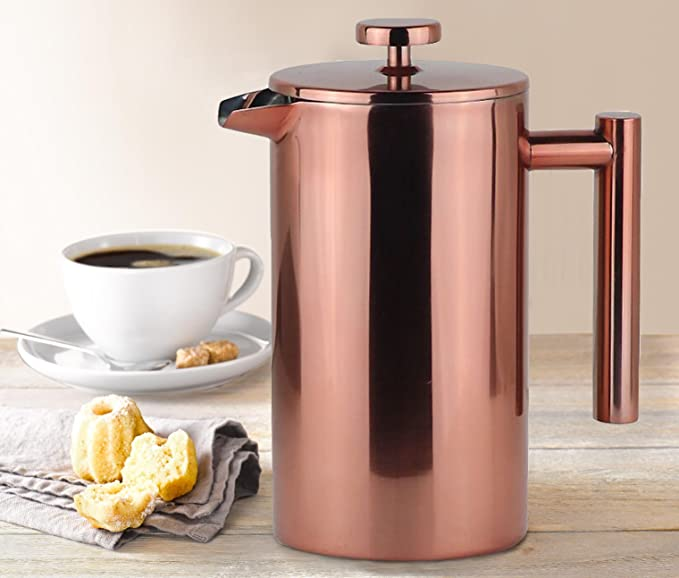 LA JOLIE MUSE COPPER FRENCH PRESS COFFEE MAKER NOW ONLY $23.99!