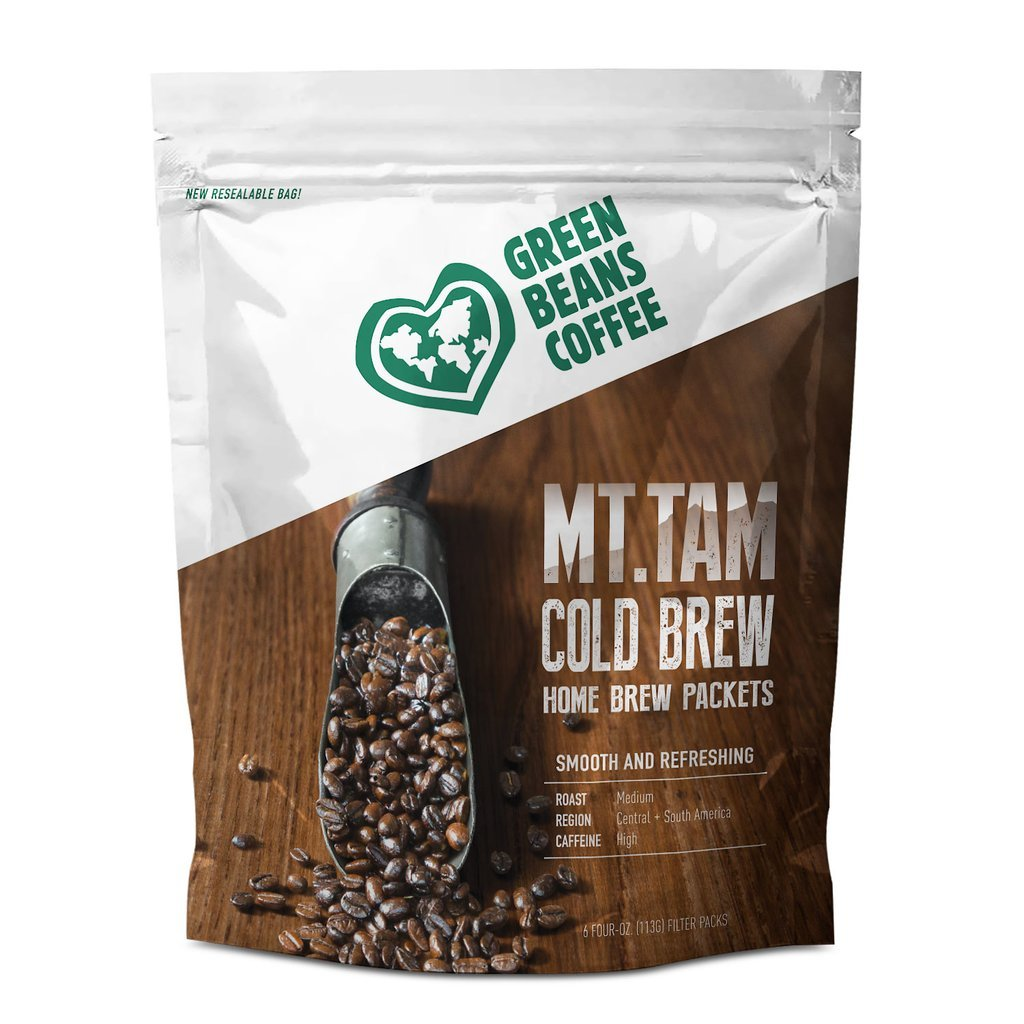 Green Beans Coffee Mt. Tam Cold Brew Home Brew Packets