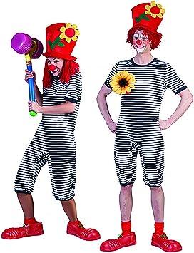 Zauberclown mágica payaso Unisex Mono Pijama Disfraz con rayas ...