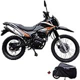 X-Pro Hawk 250 Dirt Bike Motorcycle Bike Dirt Bike Enduro Street Bike Motorcycle Bike with Motorcycle Cover, Bluetooth…